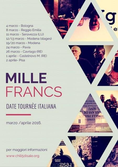 Mille Francs Di Franck Mweze – Sabato 26 marzo 2016, Eventi a Cavriago | 360 GRADI