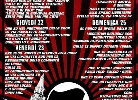 21 SET 2016: Festival Antifascista – Le cinque giornate di Modena @ Modena, Emilia-Romagna