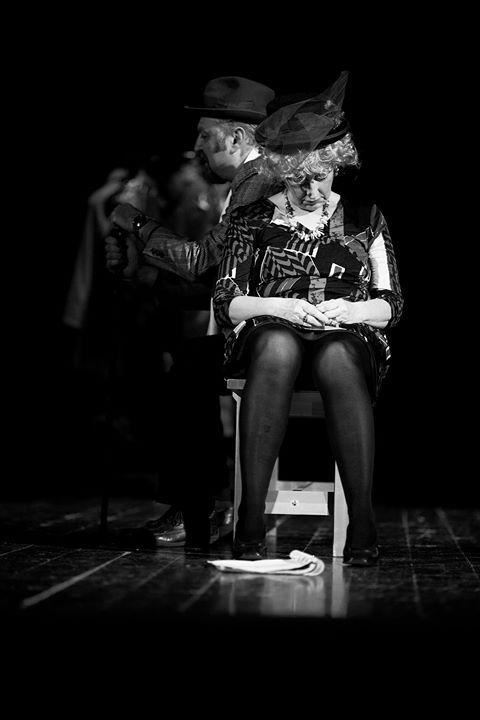 Recita dell'attore Vecchiatto nel Teatro Rio Saliceto Teatro Rio Saliceto