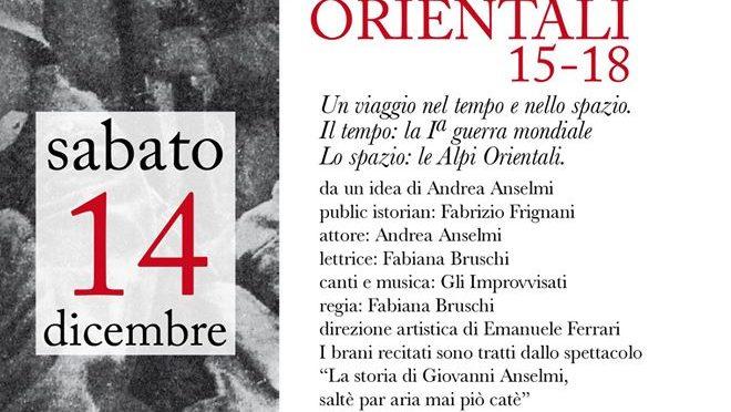 QUEL CANTO DI SOLDATI. ALPI ORIENTALI 15-18 – Spettacolo in Emilia-Romagna
